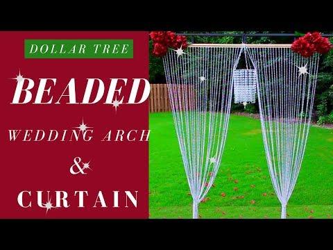 Dollar Tree DIY Beaded Curtain | Dollar Tree Wedding DIY