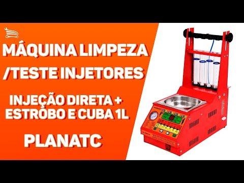Máquina Limpeza/Teste Injetores Padrão/GDI Injeção Direta e Cuba de 1 Litro - Video