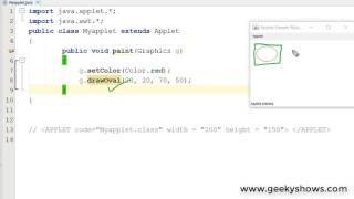 Java applet development
