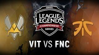 VIT vs. FNC - Week 7 Day 1 | EU LCS Summer Split | Team Vitality vs. Fnatic (2018)