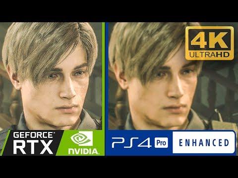 Resident Evil 2 Remake - PS4 PRO VS PC Graphics Comparison