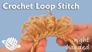 Crochet Loop Stitch (right-handed version)