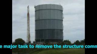 preview picture of video 'Southport gas tower demolition'