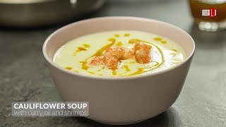 Cauliflower Soup With Curry Oil And Shrimps | Food Channel L Recipes