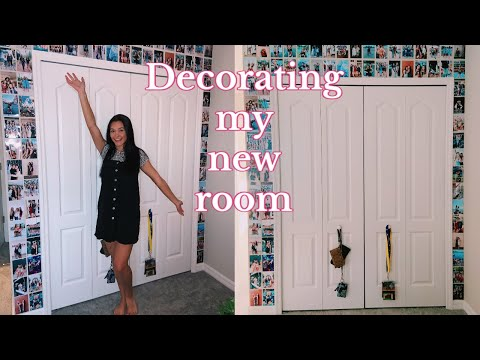 Decorate my new room with me | Photo wall