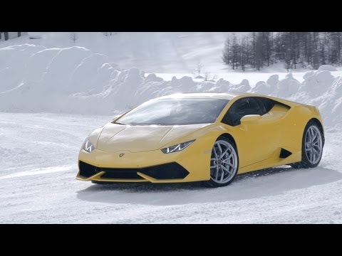 Drive a Lambo on snow