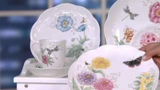 Lenox Butterfly Meadow 28-piece Porcelain Dinnerware Set On QVC