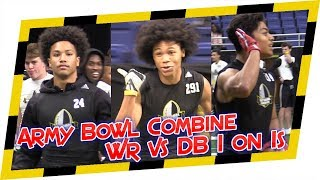 🔥 2018 Army Bowl Combine WR vs DB 1 on 1s 🔥 - Playmakers out on both sides of the ball!