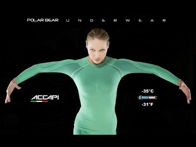 Видео Термофутболка Accapi Polar Bear черно-серая