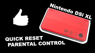 How to Reset Parental Control Nintendo DSi XL (3DS XL) Quick and Easy