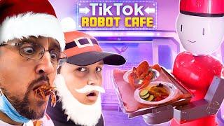 TIK TOK Robot Restaurant + Christmas Day Broke! Worst Holiday EVER! (FV Family Vlog)