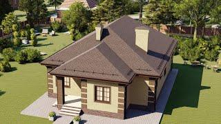 Проект дома 121-C, Площадь дома: 121 м2, Размер дома:  11,4x16,2 м