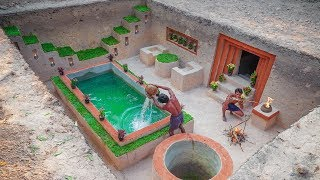 Amazing Building Compilation!How To Build​ Secret Underground House, Swimming Pool, Groundwater Well