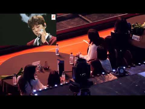 Fancam IU And Twice Reaction To Hwang Chi Yeol A Daily Song @ 7th Gaon Chart Music Awards 2018