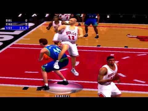 NBA Live 2001 Gameplay Chicago Bulls vs Dallas Mavericks