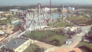 preview picture of video 'Rainbow Magicland Roma Valmontone : panoramica dll'alto (Isola Volante) : Parco divertimento'