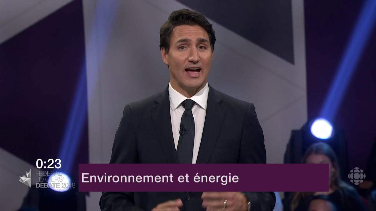 Justin Trudeau répond à une question d'un citoyen sur le changement climatique