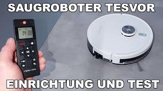 TESVOR S6 Turbo Saugroboter 2-in-1 Staubsauger-Wischroboter / Einrichten und erster Test