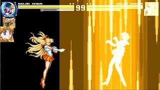 Sailor Moon MUGEN Playthrough Sailor Venus (Arcade Mode)