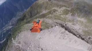 Прыжок с горы! Одуреть можно