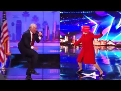 President Donald Trump vs. Queen Elizabeth EPIC Dance Off - Who Wins? (видео)