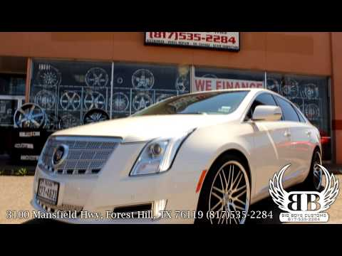 "Cadillac XTS on 22"" Staggered Lexani Wheels done by Big Boys Customs!"