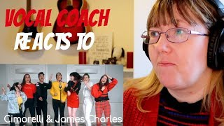 Vocal Coach Reacts to James Charles & Cimorelli 'Demi Lovato Medley'