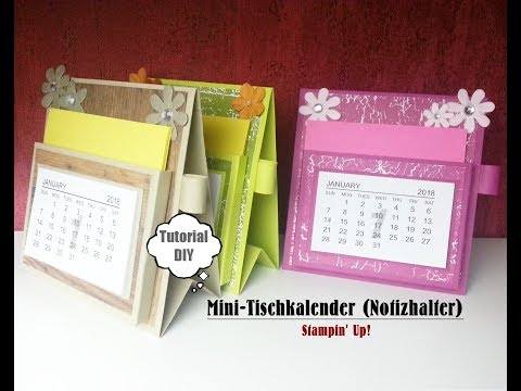 Mini-Tischkalender | Notizhalter | Stampin' Up! | Tutorial | DIY