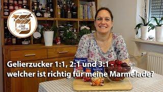 Gelierzucker 1:1, 2:1 und 3:1 - welcher ist für meine Marmelade am besten?