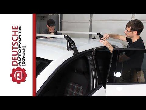OEM VW MK7 Golf GTI Roof Rack (Base Carrier Bars) DIY (How to) Install