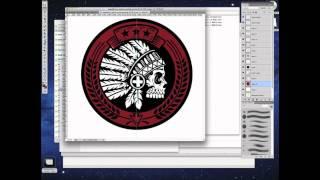 Native  Headdress Patch Design