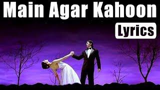 Main Agar Kahoon | Lyrics | Om Shanti Om | Songs   - YouTube