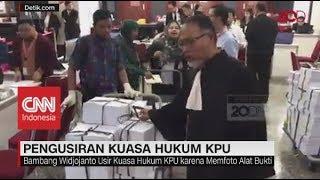 Foto Alat Bukti, Bambang Widjojanto Usir Kuasa Hukum KPU