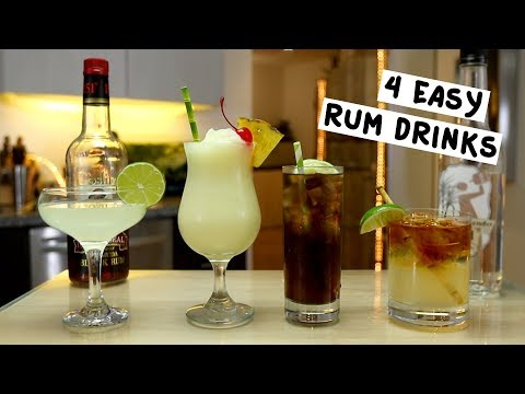 Video Four Easy Rum Drinks