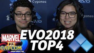 EVO 2018 MvCi TOP4 FINALS (TIMESTAMP) NotEnoughDamage Macho Tayson Cyber