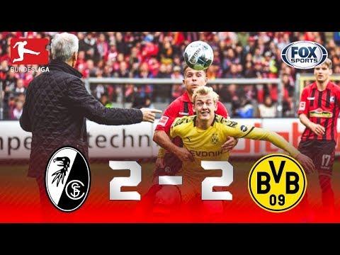 ELETRIZANTE! Melhores momentos de Freiburg 2 x 2 Borussia Dortmund pela Bundesliga