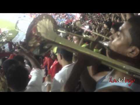 """""""Baile de trompetas - La molienda - Barón Rojo Sur - América 3 Expreso rojo 1"""" Barra: Baron Rojo Sur • Club: América de Cáli"""