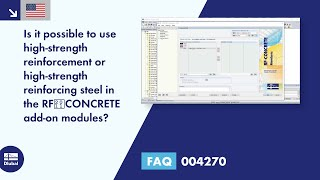 FAQ 004270 | Is it possible to use high-strength reinforcement or high-strength reinforcing steel in the RF‑CONCRETE add-on modules?