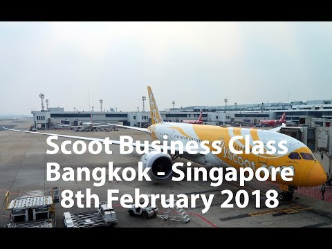 LOW COST AIRLINE BUSINESS CLASS? ScootBiz Flight TR869 B787-8 Bangkok – Singapore REVIEW