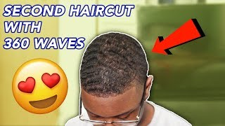 SECOND HAIRCUT WITH 360 WAVES | RAYON