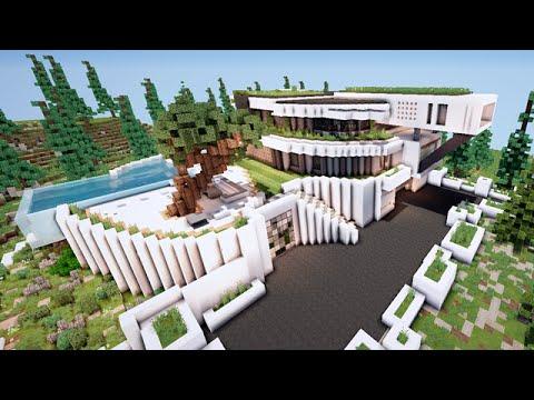 Stunning Maison De Luxe Moderne Minecraft Pictures - Doztopo.us ...