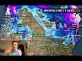 Tomer's Take: On Friday ski Sunday River or Sugarloaf, on Saturday ski Schweitzer or Whistler/Blackcomb and on Sunday ski Steamboat or Loveland.   - © Meteorologist Chris Tomer