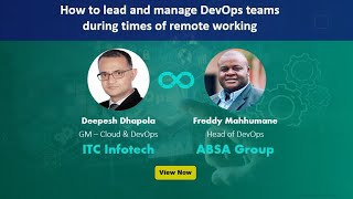 How to lead and manage DevOps teams during times of remote working