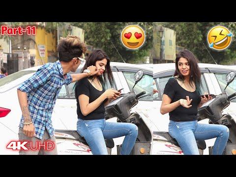 Pulling Cheeks Prank || Part-2 #Pulling #stranger #cheek #prank #India #prayagraj #Allahabad ||