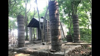 Primitive technology with survival skills build kitchen Roman part 1