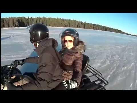 Видео: Видео горнолыжного курорта Малая Медвежка в Карелия