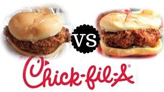 Chick Fil-A Original V.S. Spicy Sandwich TASTE TEST | Versus