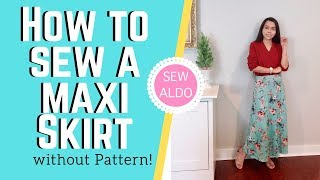 SEWING:  DIY Maxi Skirt | Sewing Projects For Beginners