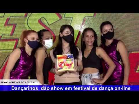 Dançarinos de Novo Horizonte do Norte dão show em festival de dança on-line