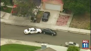 Stolen vehicle suspect leads CHP on chase through OC, Riverside and San Bernardino counties